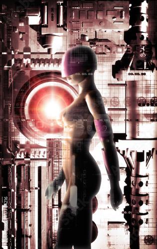 Nowoczesny obraz na płótnie futuristic girl