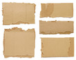 canvas print picture - Pieces of cardboard