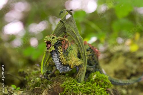 Fotobehang Draw fiery dragon