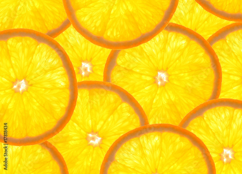 Aluminium Prints Slices of fruit Orangen