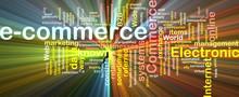 E-commerce Word Cloud Glowing