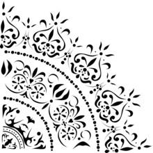 Simple Black Color Quadrant