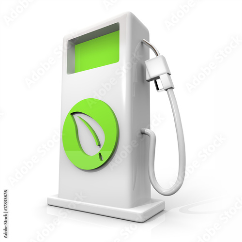 Fotografie, Obraz  Alternative Fuel Gas Pump - Green Leaf