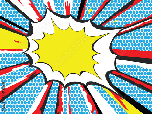 Spoed Foto op Canvas Pop Art Pop Art style explosion