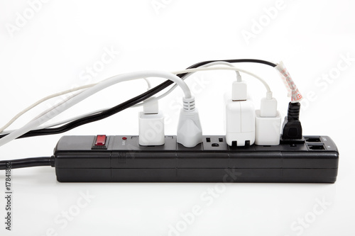 Foto  over loaded surge protector