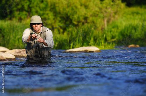 Printed kitchen splashbacks Fishing Fly fishing