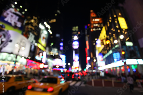 Canvas Prints New York TAXI The times square at night
