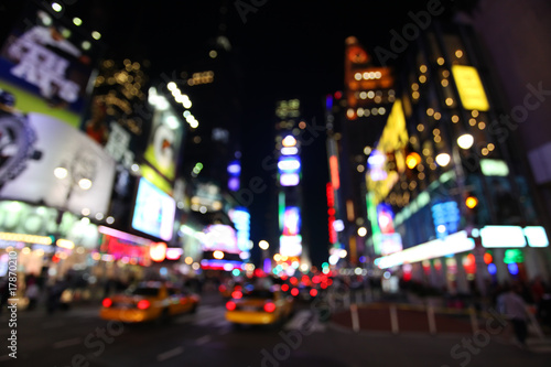Poster New York TAXI The times square at night