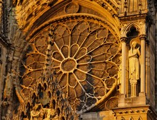 Rosette In Reims Cathedral, France