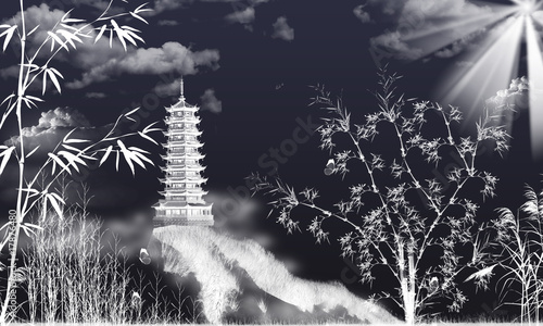 Fotografie, Obraz  Bambus Bamboo