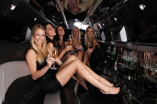Photographie  party in der strech limousine