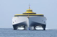 Modern High Speed Ferry Ship