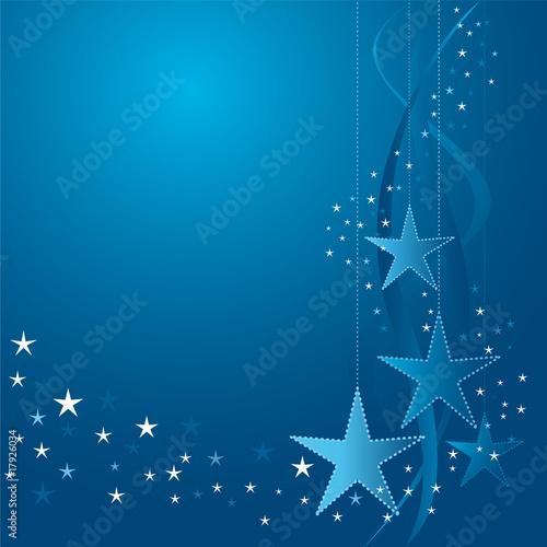 Obraz white and blue Christmas stars - fototapety do salonu