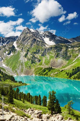 Mountain lake Canvas