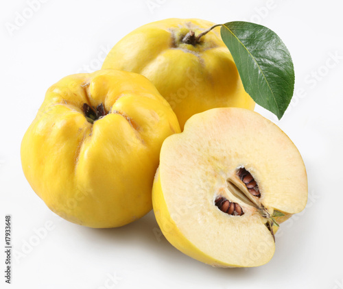 quince on a white background Poster Mural XXL