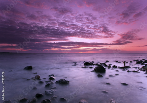 Printed kitchen splashbacks Eggplant Beautiful photo from the Swedish coastline.