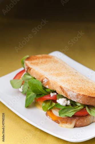 Staande foto Snack tasty lamb sandwich