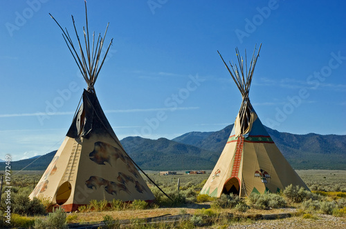 Poster Indiens Indian tipis