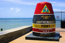Southernmost Point In Continental USA In Key West,florida