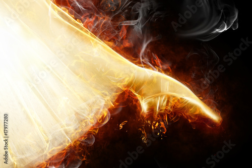 Poster Flamme flamy symbol