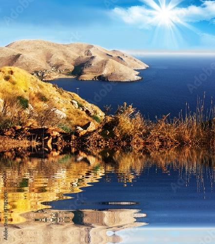Spoed Foto op Canvas Neushoorn Ocean