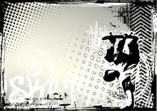 Skate Grungy Background
