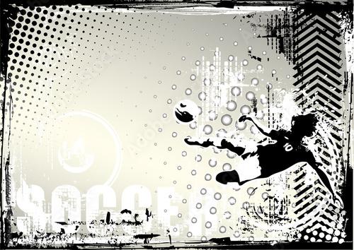 Obrazy sport  pilka-nozna-grungy-tlo