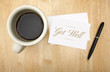 Get Well Note Card, Pen and Coffee