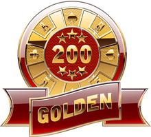 Casino's Decorative Golden Coin