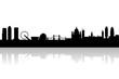 london city skyline with landmarks vector