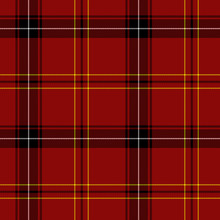 Red Tartan Seamless Pattern