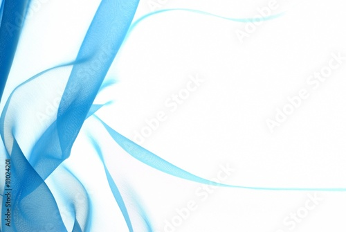 Fototapeta Abstract soft blue chiffon with curve and wave pattern