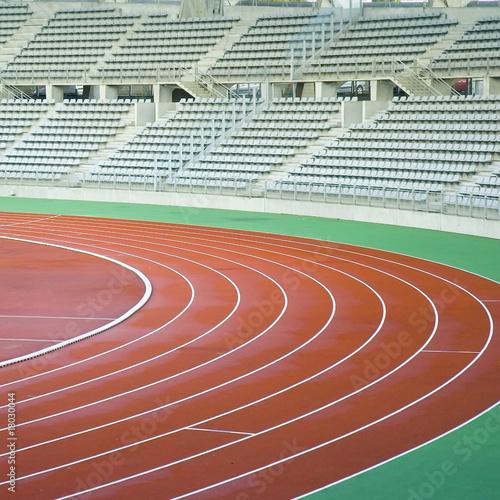 Fotografie, Tablou piste d'athlétisme