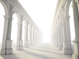 Classical colonnade with arcades and Corinthian columns