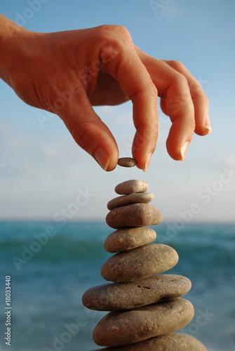 Foto op Plexiglas Stenen in het Zand Stone Tower