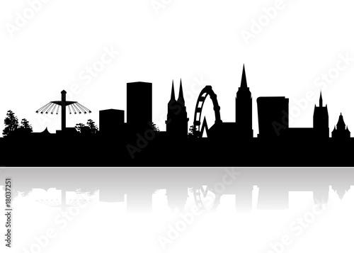 basel skyline vector Canvas Print