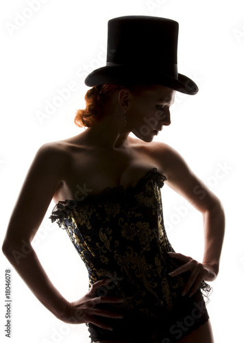 Photo  woman in corset