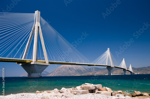 Papiers peints Pont cable stayed bridge, Greece