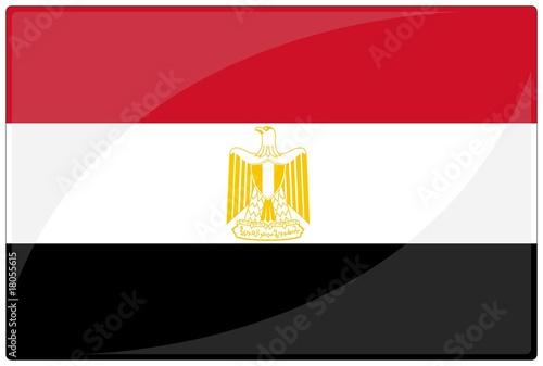 Obraz na plátně drapeau glassy egypte egypt flag
