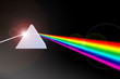 canvas print picture - Prism refracting light beam to colors
