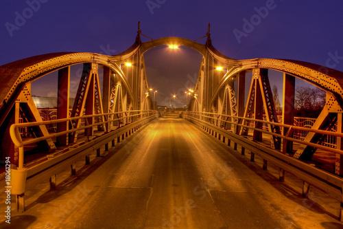 Spoed Foto op Canvas Canada Alte Drehbrücke im Krefelder Hafen