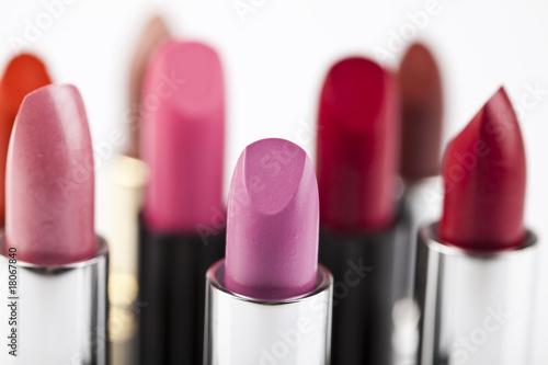 Fotografie, Obraz  Lipsticks on wghite background