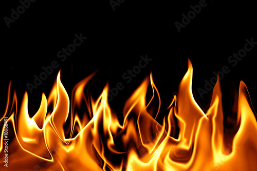 Keuken foto achterwand Vlam Feuer