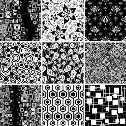 czarno-biala-bezszwowa-kolekcja