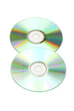 Two Cd Discs Isolated On The Whte