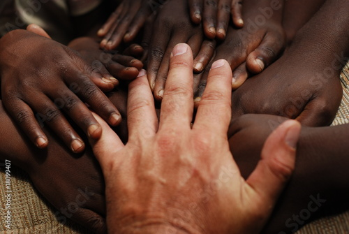 Deurstickers Afrika hands