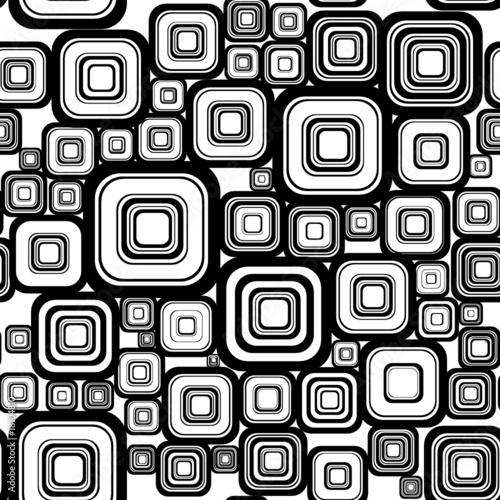 Tapeta ścienna na wymiar Seamless retro background from squares.