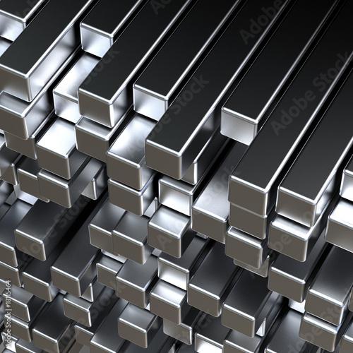 Türaufkleber Metall 3d metal bars