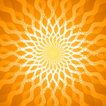 Abstract Radiate Sunlight Pattern Background. Vector Layered.