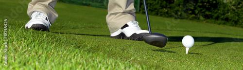 Poster Golf Golf Banner - Driving